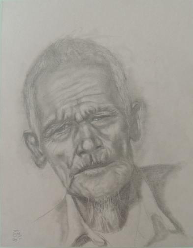Retrato de hombre con perilla / Portrait of a man with a goatee